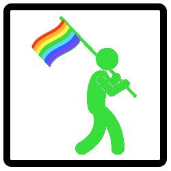 Pride Walk Vlaggendrager