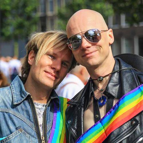 Verliefde jongens - Pride Walk Amsterdam
